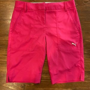 PUMA HOT PINK BERMUDA GOLF SHORTS